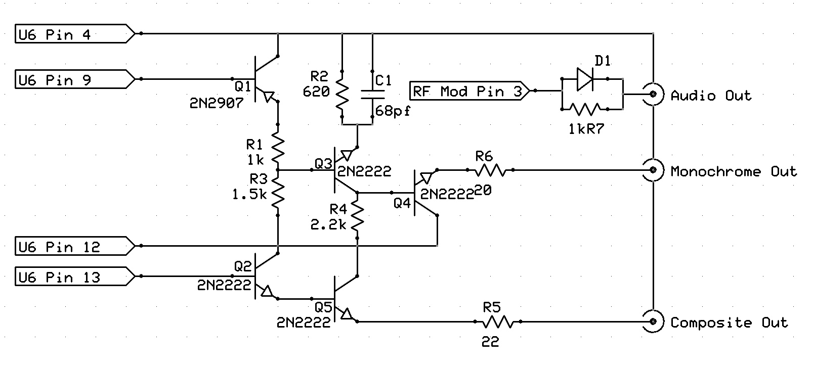 [WRG-1907] Composite To Vga Schematic