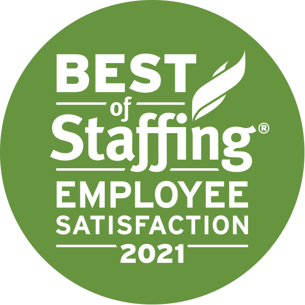 2021 Best of Staffing Employee Satisfaction Award | Best Staffing Firms to Work For