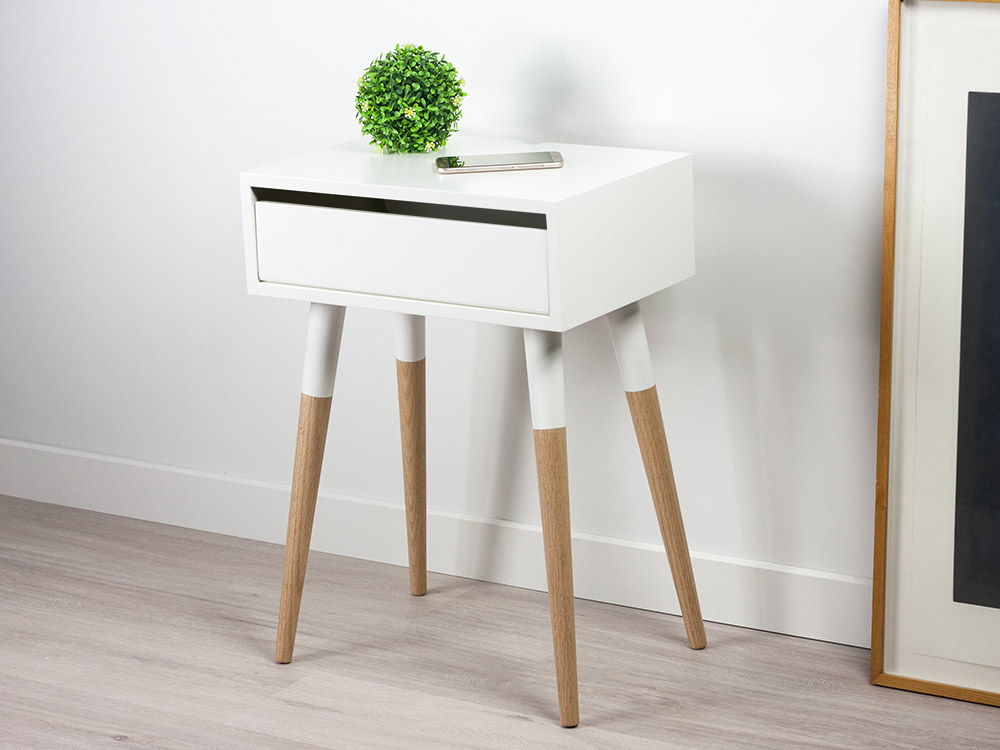 Jasper Scandinavian Design Nightstand, Danish Side Table, Bedside Table
