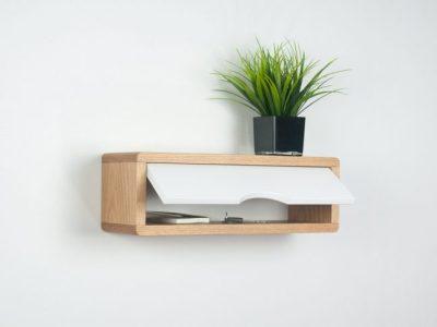 Custom Size Antero Minimalist Floating Entryway Shelf, Mid-Century Modern Style Cabinet