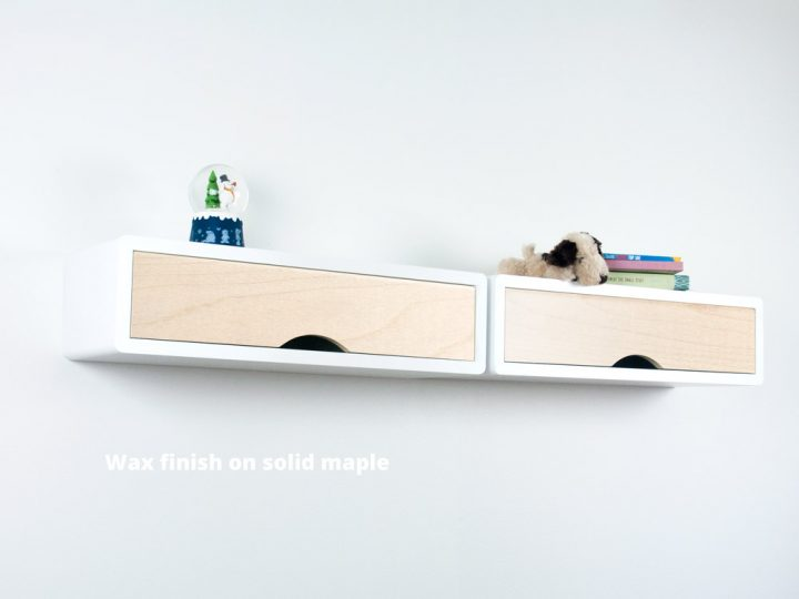 Slim modern Floating Shelf Maple