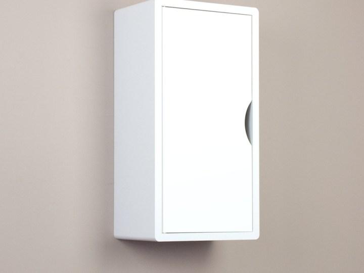 white floating cabinet