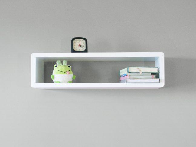 White Floating Shelf, Decorative Shelf