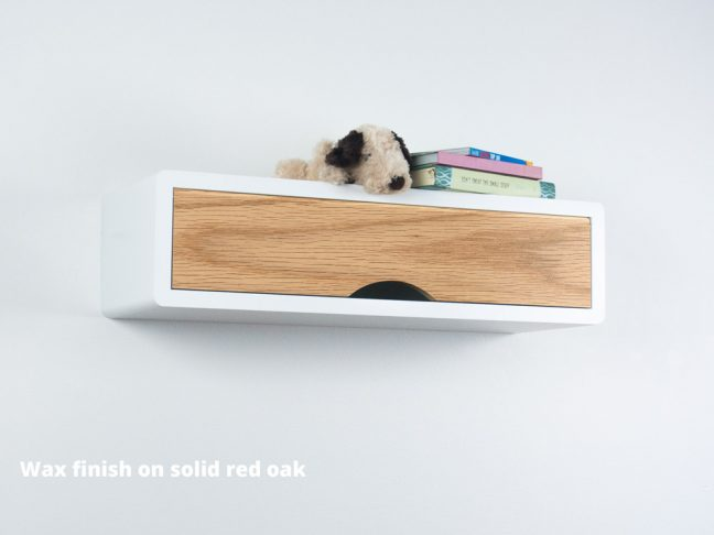 Slim modern Floating Shelf Red Oak