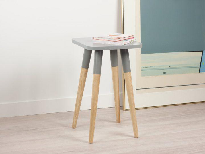 Scandinavian Design Side Tables: Scandinavian Design Side Table, Modern End Table