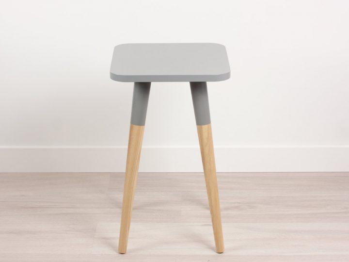 Bona Scandinavian Design Side Table Small, Modern End Table, Minimalist Collection