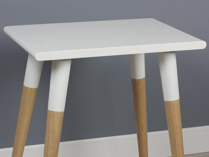 Blanca Sleek Modern Side Table, Hardwood End Table, Nightstand