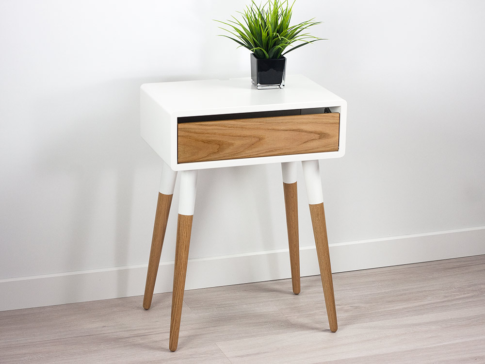 Jasper Modern Danish Nightstand, Retro Side Table