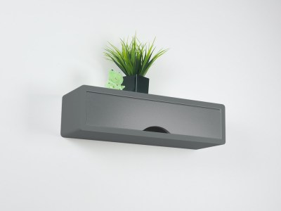 Slate Gray Contemporary Floating Shelf