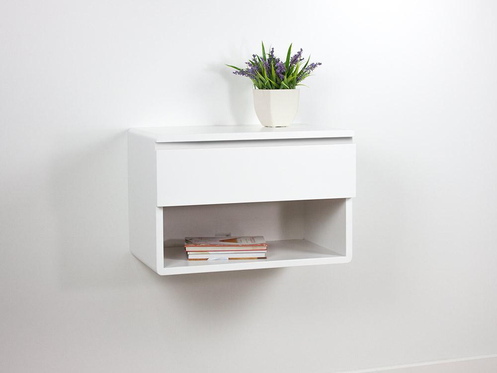 floating nightstand drawer shelf