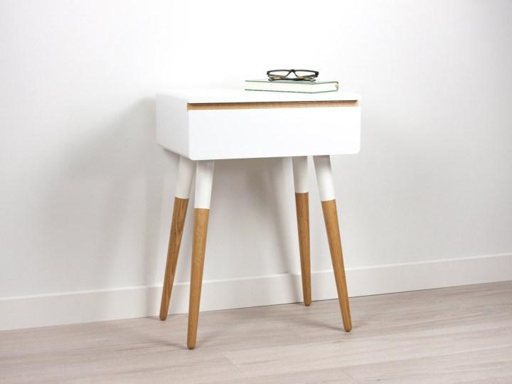 Blanca Scandinavian Nightstand, Side Table, Bed Side Table
