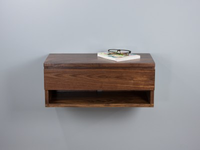 Walnut Floating Nightstand Shelf
