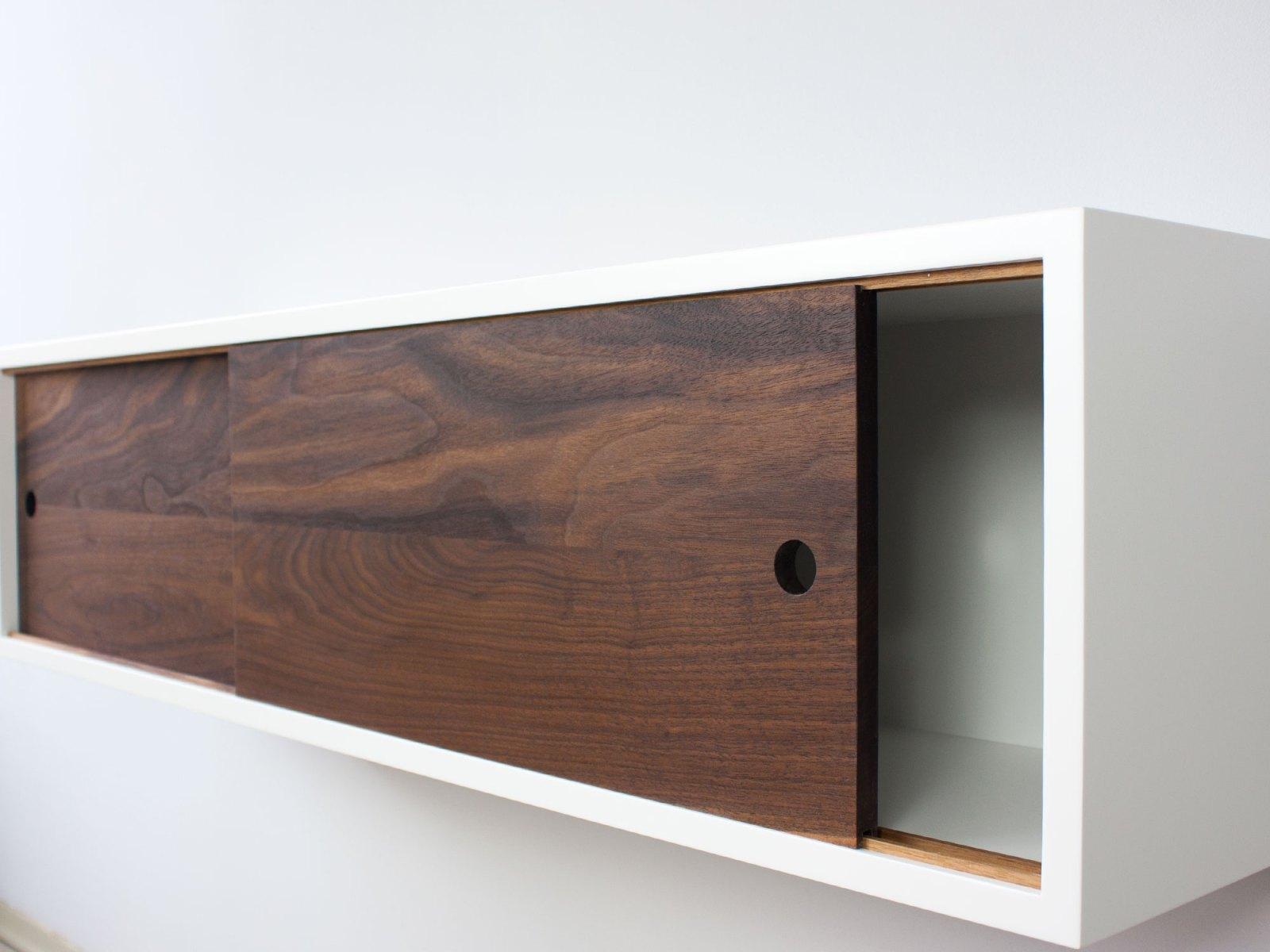 Modern Floating Sliding Door Shelf