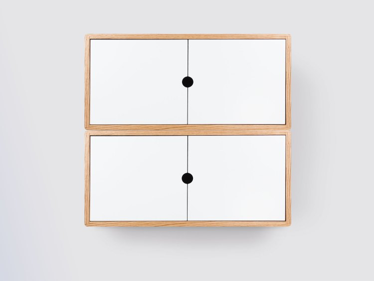 minimalist floating cabinet