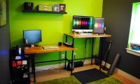 DIY Adjustable Standing Desk from Steel Pipe & Ikea Countertop