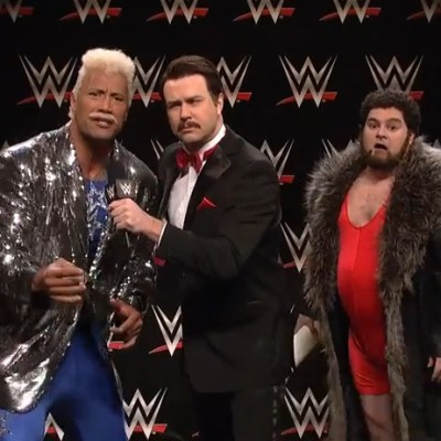 The Rock was in one of the darkest SNL skits we've seen in awhile and it's wonderful