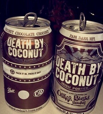 2 Beers 1 Cup: Oskar Blues Brewery's Death By Coconut Irish Porter