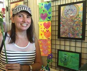 Kayla Anderson Reno AFAN art student Stephanie Conn stands by her work that will be on display at the Lake Mansion in Reno through June 24.