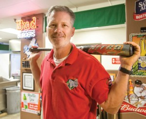 John Byrne/Tribune -  Tommy Newell, owner of Tommy's Grand Stand batting cages in Sparks, says his business serves up to 100 lunches on a normal day.