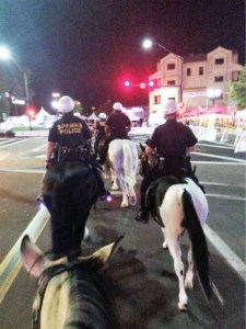 The Mounted Unit works events in Sparks such as Hot August Nights and the Nugget Rib Cook-Off where there are large crowds.