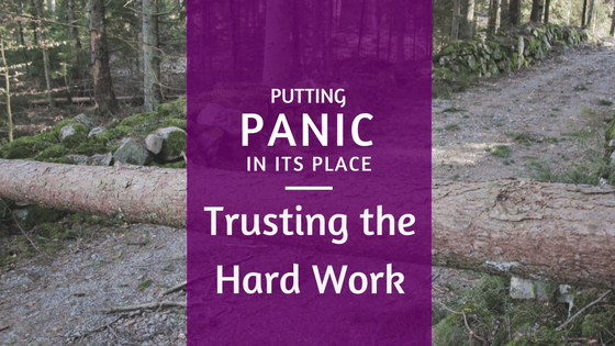 Putting Panic in its Place: Trusting the Hard Work
