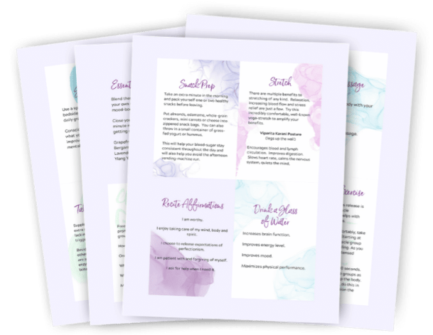 60 second mood boosters self care card deck for moms on the go