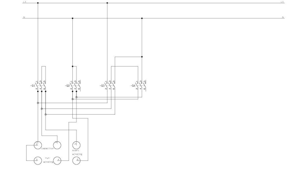 single phase capacitor start wiring diagram mitsubishi truck radio forward reverse   sparkyhelp