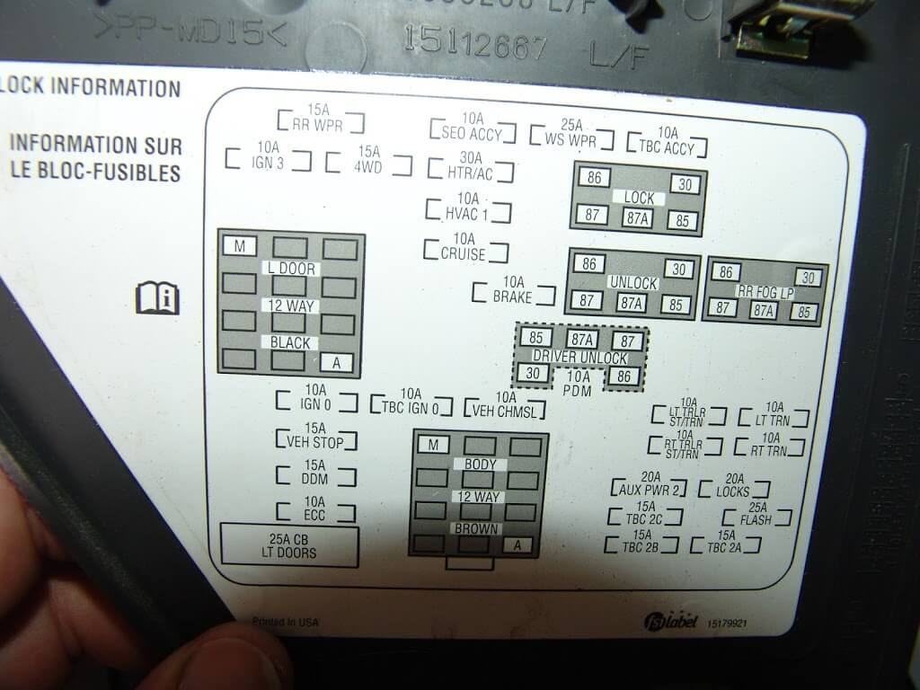 2008 Chevy Uplander Fuse Box Diagram Schematic Diagrams Wiring For Electrical 2005