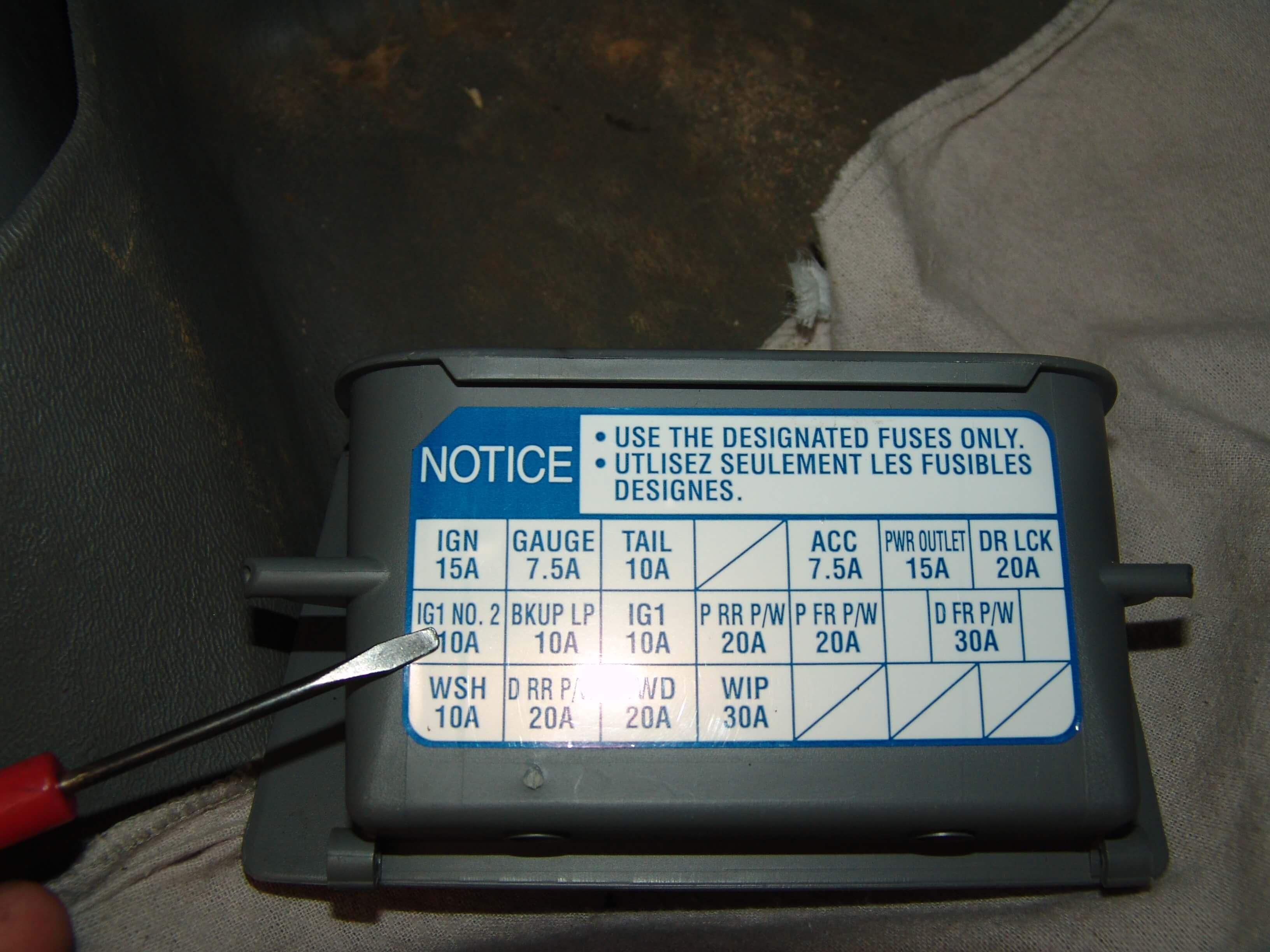 2007 Toyota Tacoma Fuse Box