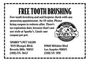 Free Toothbrushing Coupon
