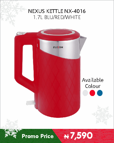 NEXUS KETTLE NX-4016 1.7L BLU-RED-WHITE