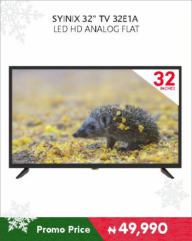SYINIX 32 TV 32E1A LED HD ANALOG FLAT