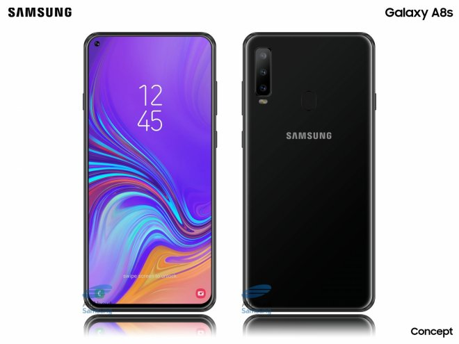 Samsung galaxy A8s product picture