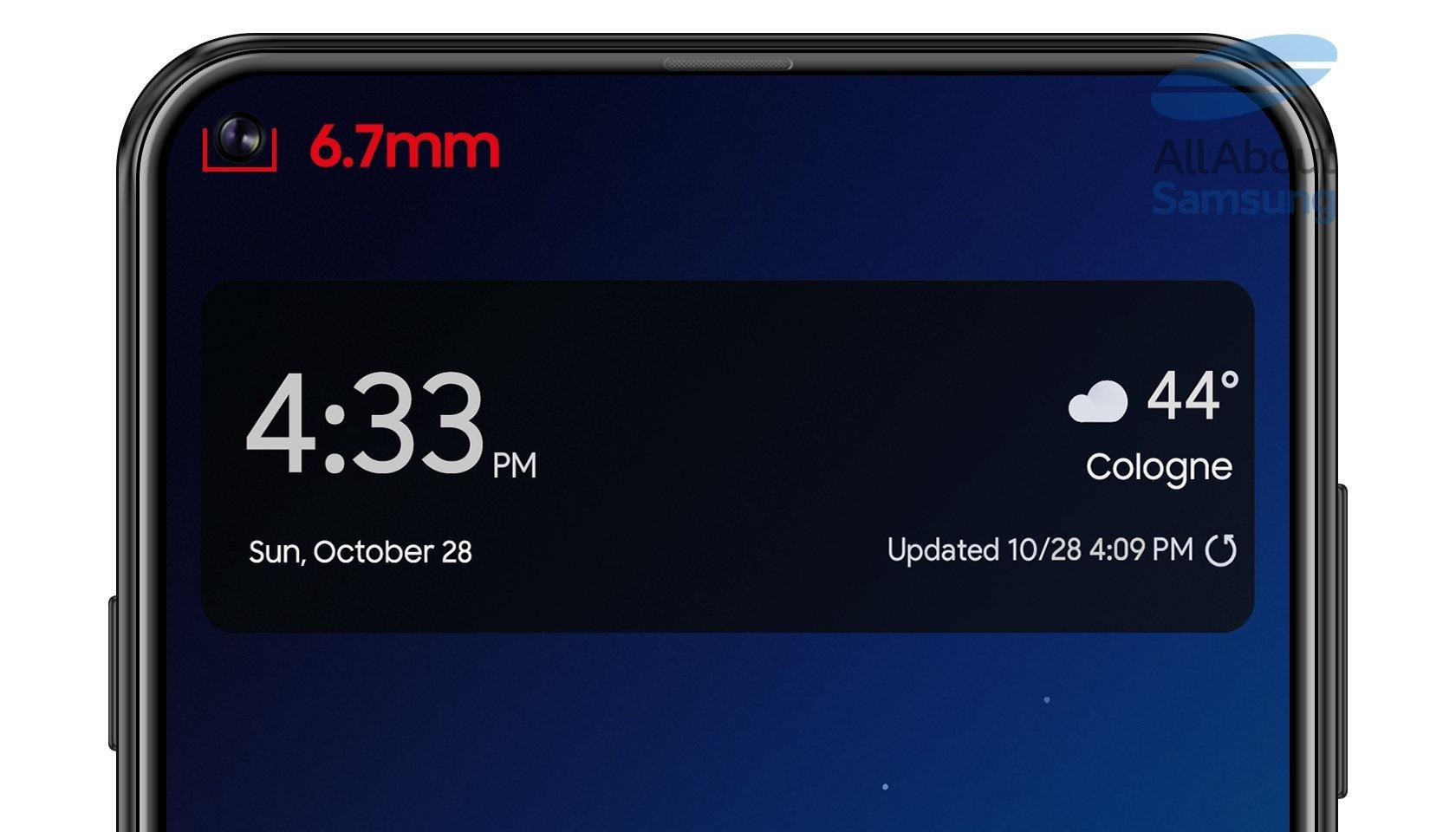 Samsung galaxy a8s press images