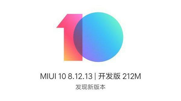 MIUI 10 8.12.13 Beta