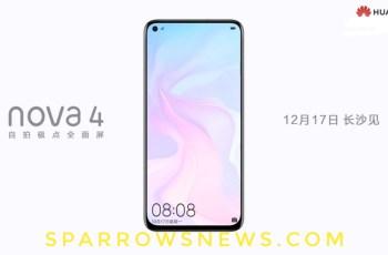 Official promo: Huawei Nova 4 appearance exposure 1