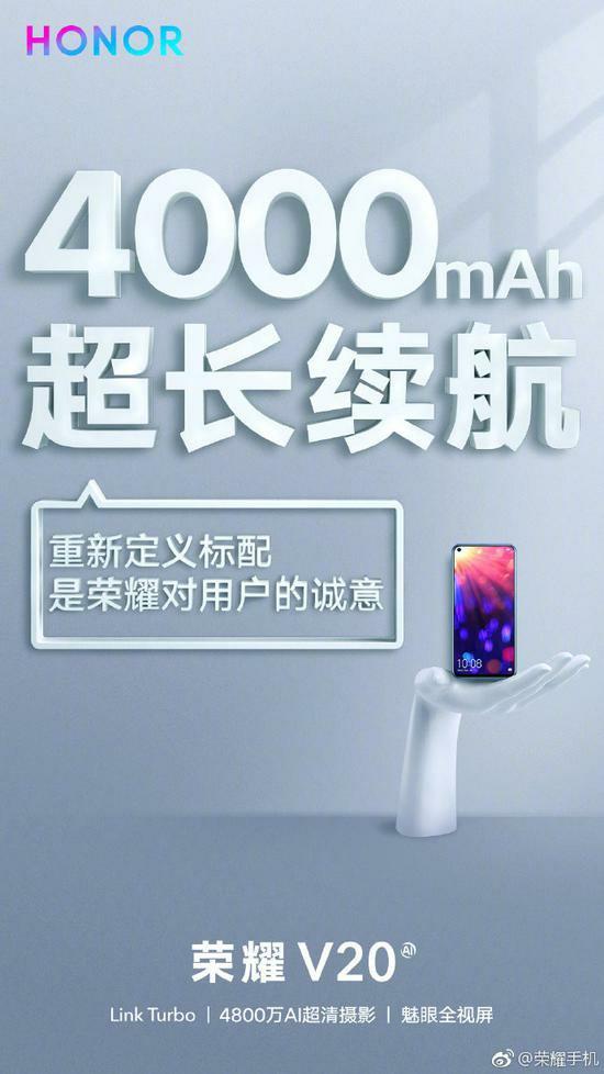 Honor V20 Battery Capacity