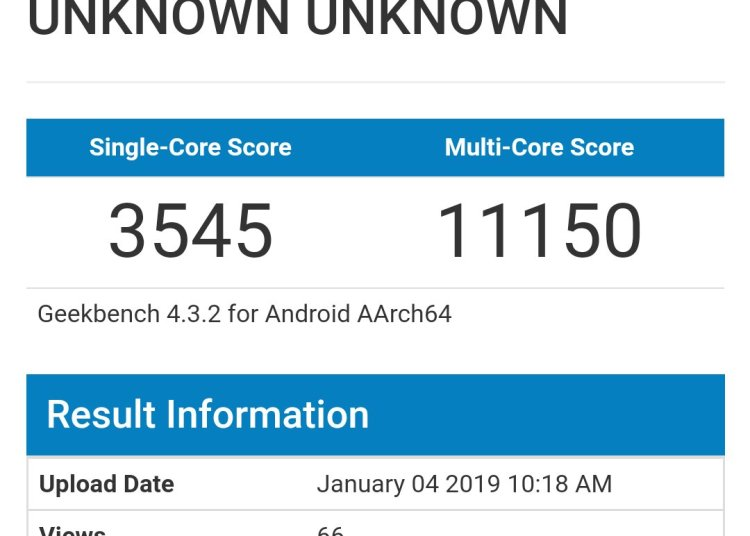 Qualcomm Snapdragon 855 Geekbench performance running points exposure: 1