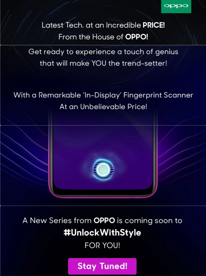 OPPO Teases Budget Friendly In-display FP scanner phone for India 1
