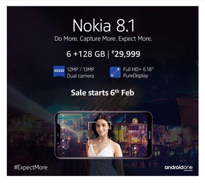 Nokia 8.1 6+128gb Amazon India