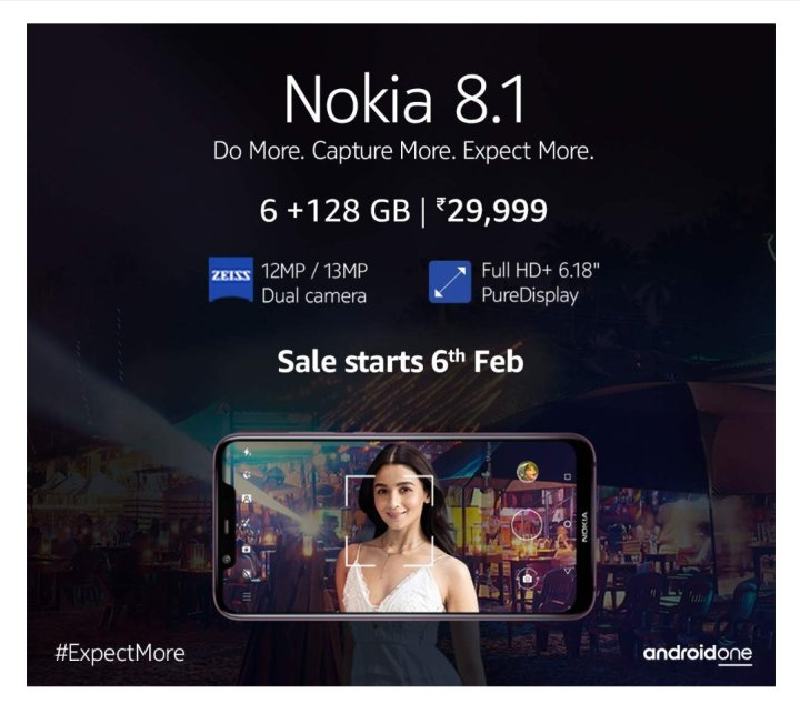 Nokia 8.1 6+128gb Amazon India