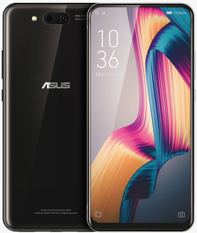ASUS slider phone exposure: front wide flash, support 5G 2