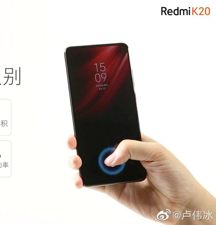 Redmi K20 7th Generation Screen Fingerprint