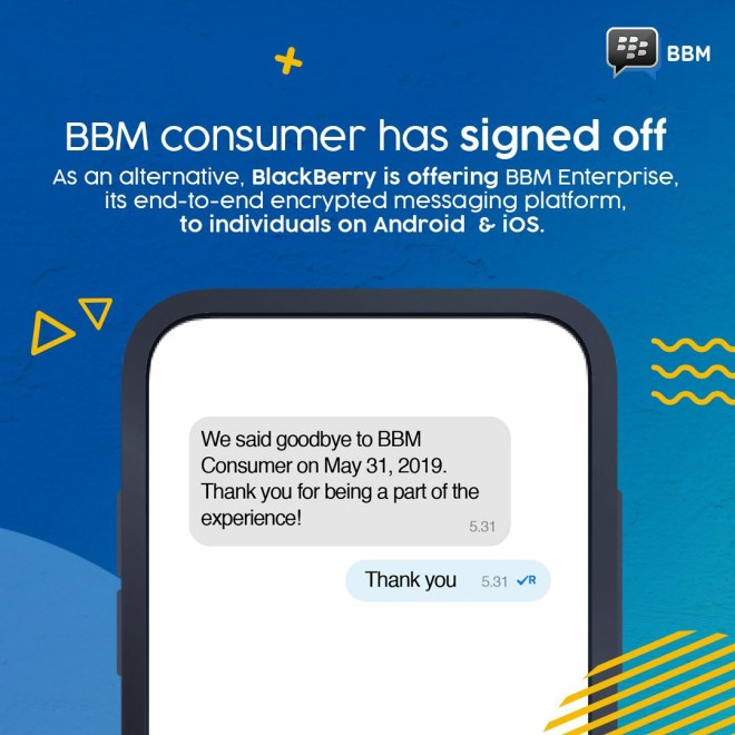 BlackBerry officially announced: BBM personal version shut down