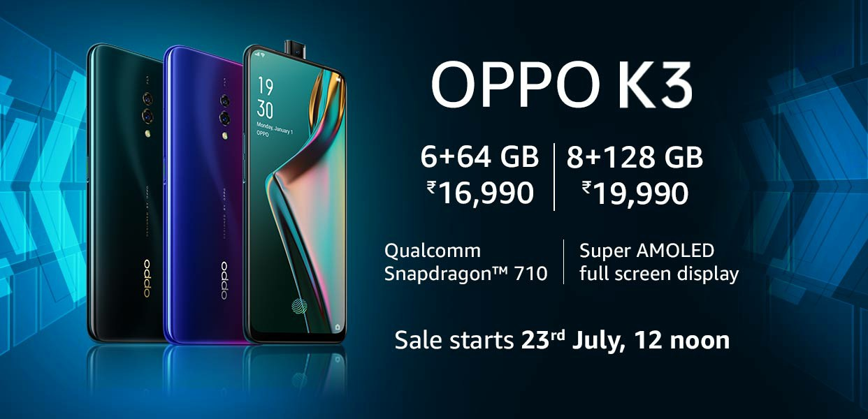 Oppo K3 price in India