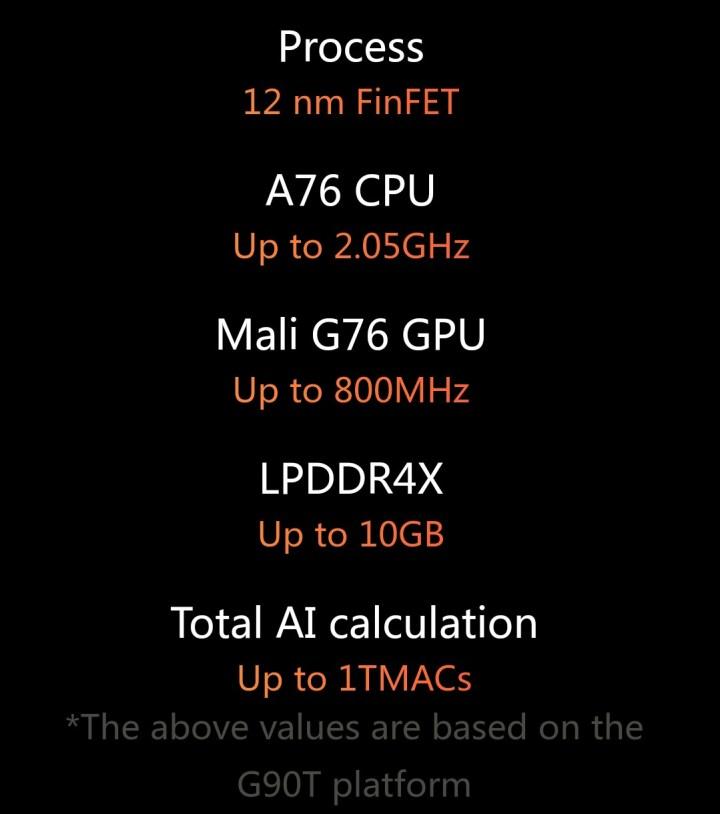 MediaTek g90 and G90T specifications