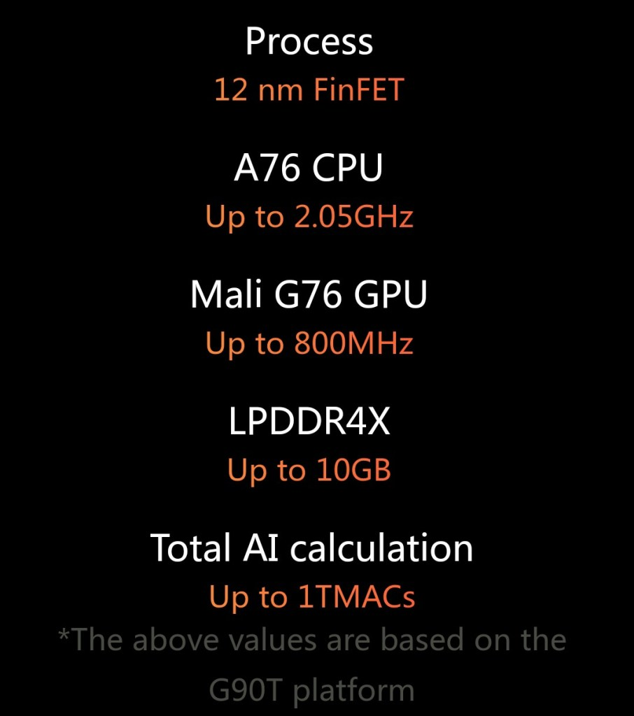MediaTek g90 and G90T specifications