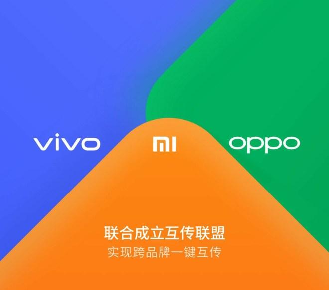 Oppo, Vivo and Xiaomi collaboration