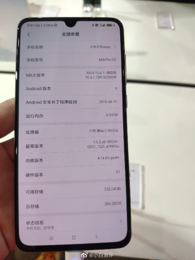 Xiaomi 9 pro 5g hands on pictures