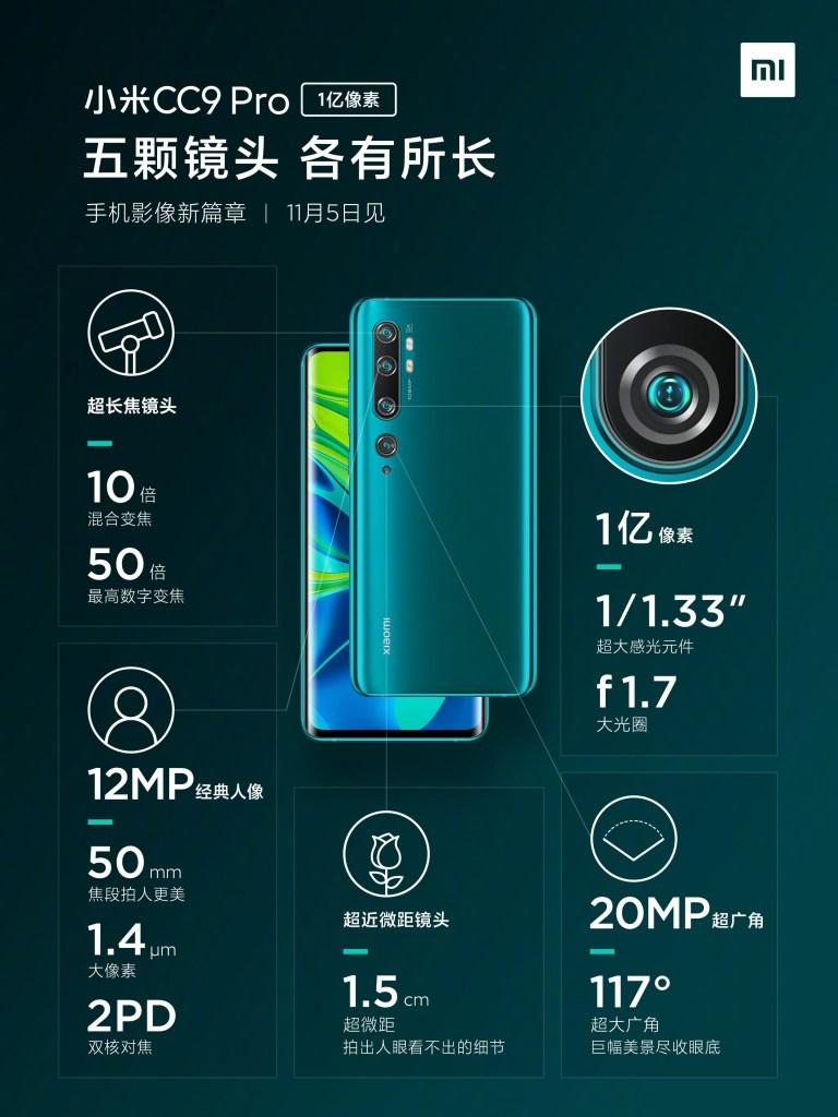 Mi CC9 Pro Camera Specifications, xiaomi CC9 Pro Camera Specifications